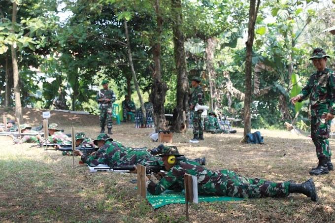 Kodim 0508/Depok Latihan Menembak Triwulan Ke-II TA 2015
