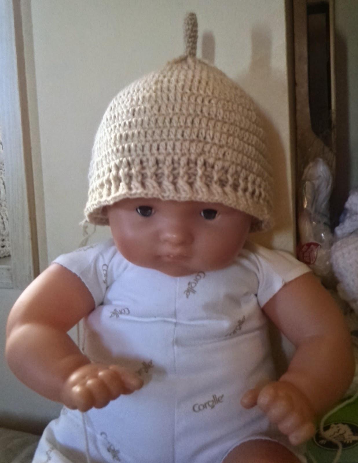 かぎ針編みのどんぐり帽子:正面