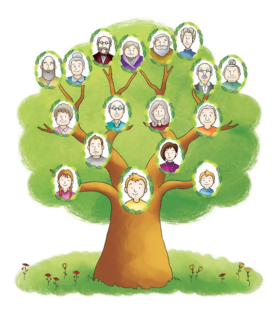 Ilustración de árbol genealógico