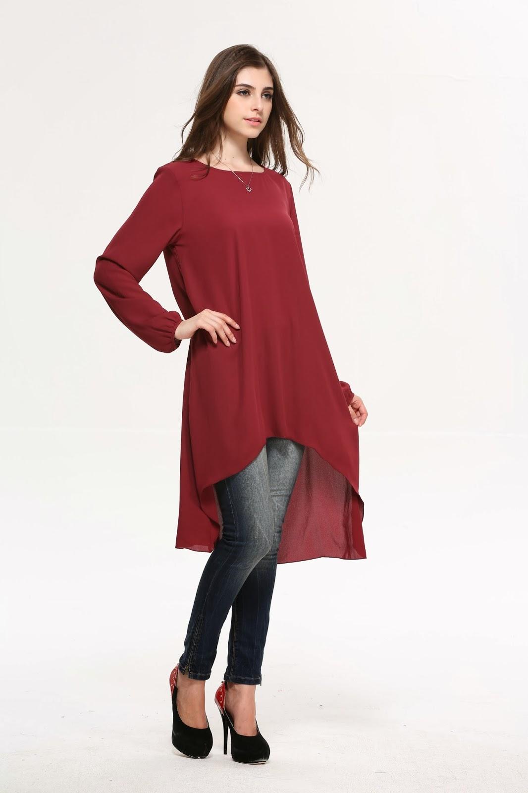 Infojelita Fesyen Blouse Terkini Korea Labuh FOR SALE