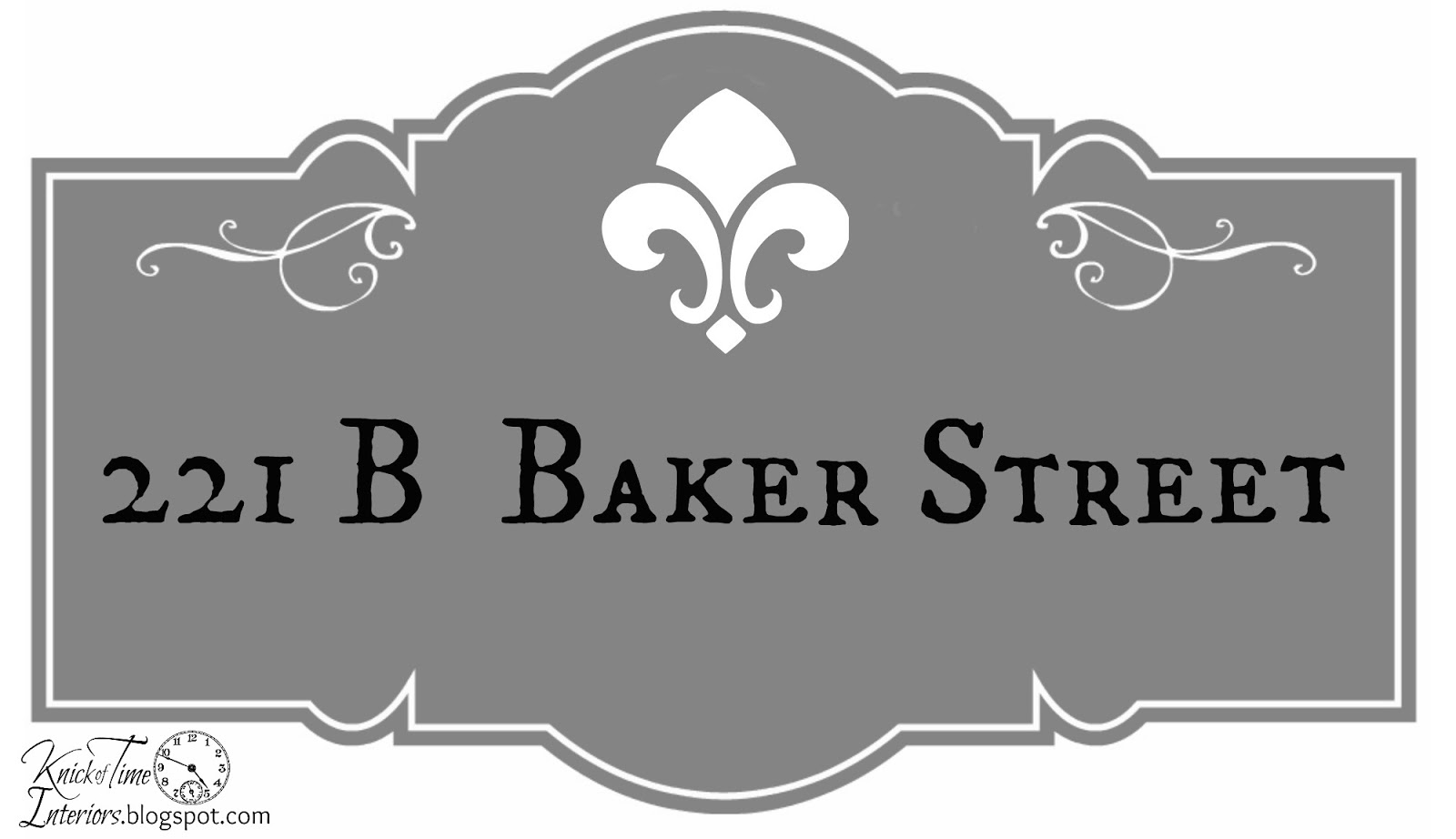 B Baker Street Sign Knick Of Time - Street sign template