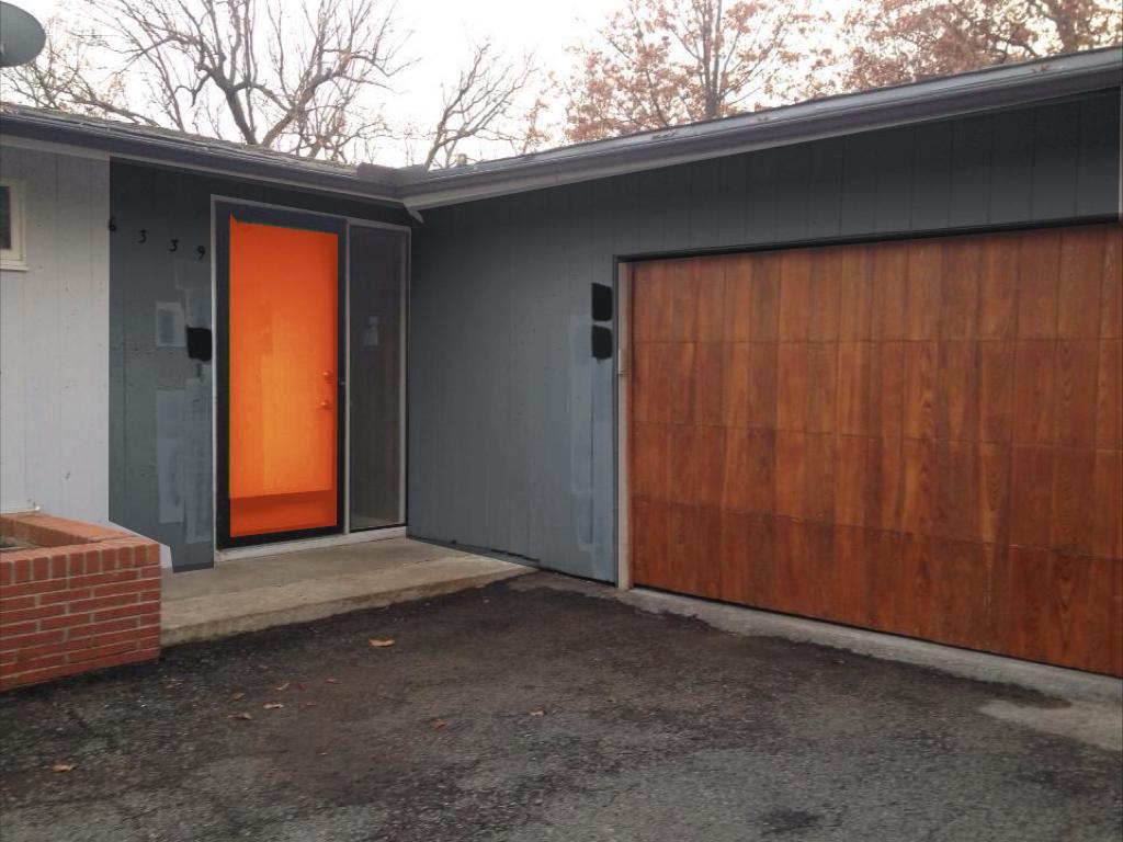 Robin Hoods Hideaway Reveal of Garage Door and Front Door