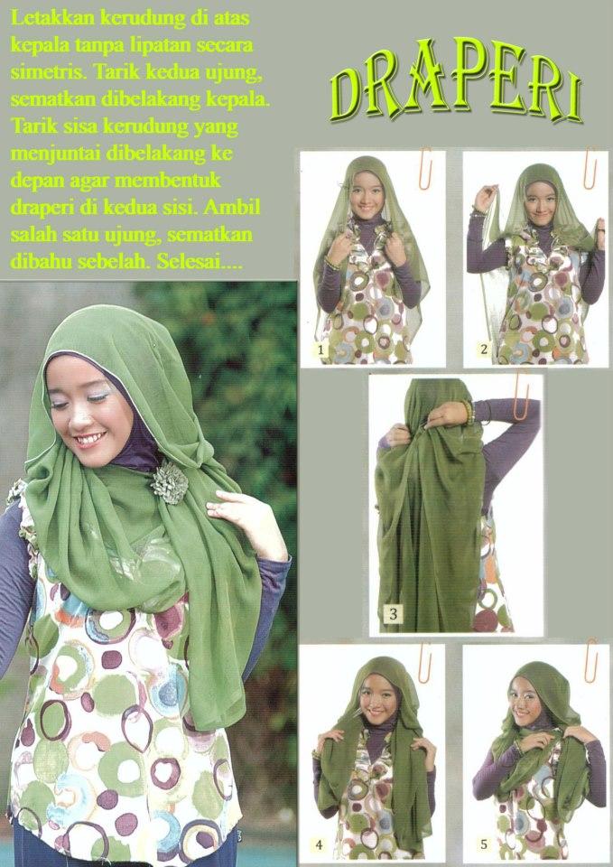 Kreasi Jilbab Segi Empat nan Modis | Tutorial Hijab