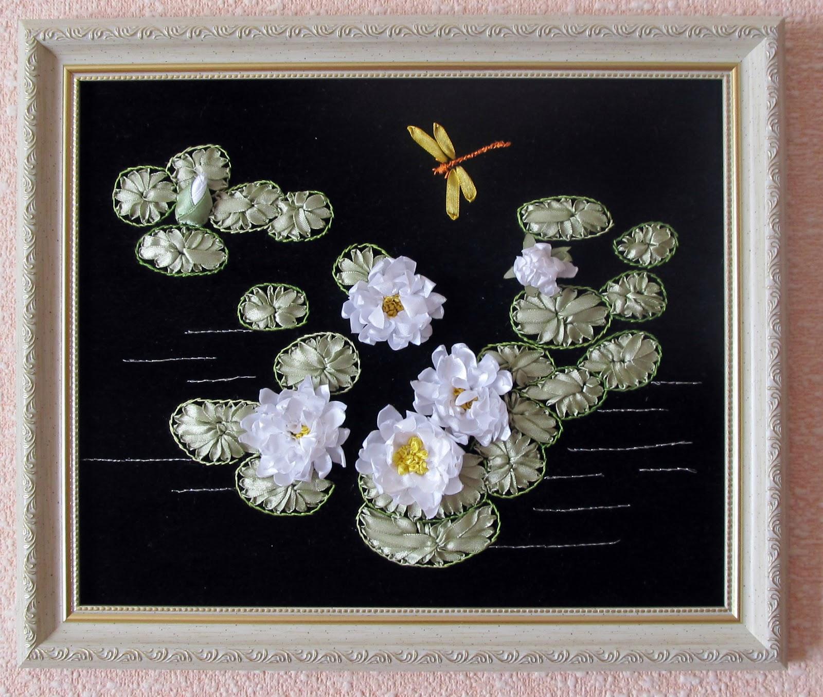 Вышивка лентами лилия фото