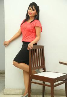 Actress Madhulagna Das Pictures in Black Short Skirt at Andala Chandhamama Press Meet 07