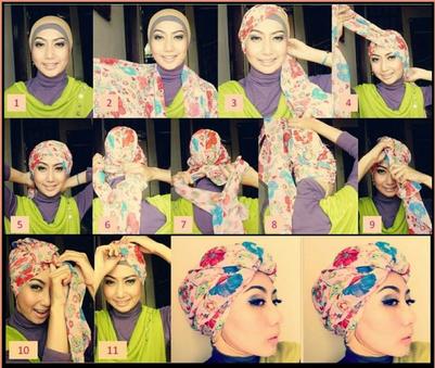 Model dan Gaya Hijab Modern Terbaru 2016 image