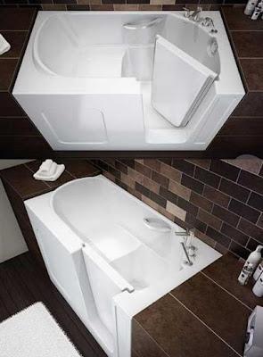 Необычная ванна. Ванна с дверкой. Прикольная ванна.