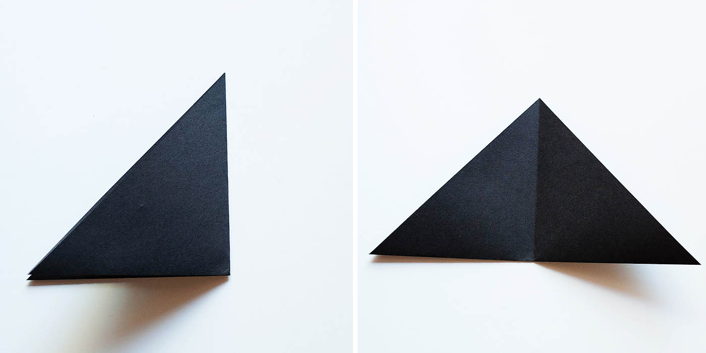 Fold Into Another Triangle To Crease And Then Unfold
