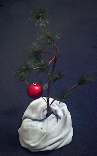 replica of the tree used in charlie brown christmas television show