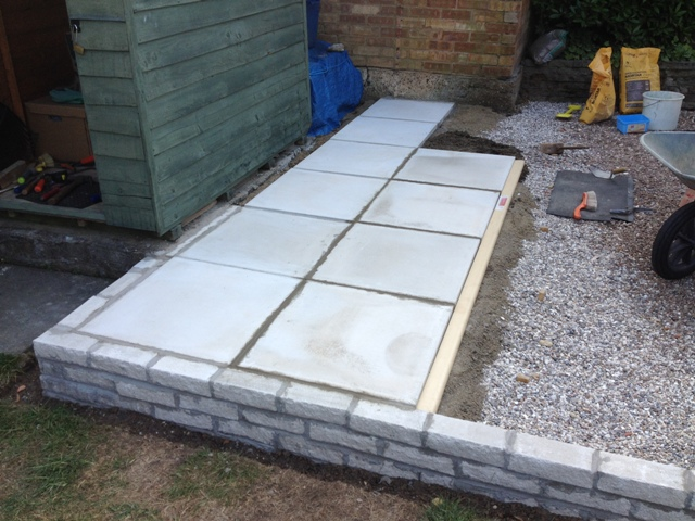 Laying Concrete Slabs : Bill s log another six paving slabs done