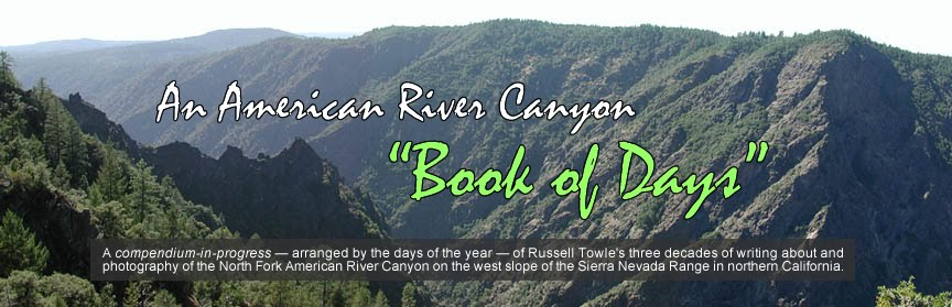 "An American River Canyon ""Book of Days"""