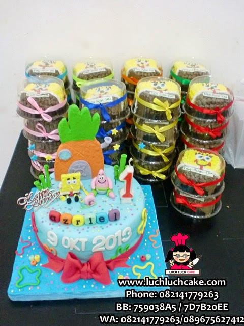 Kue Tart Spongebob Fondant Cute Daerah Surabaya - Sidoarjo