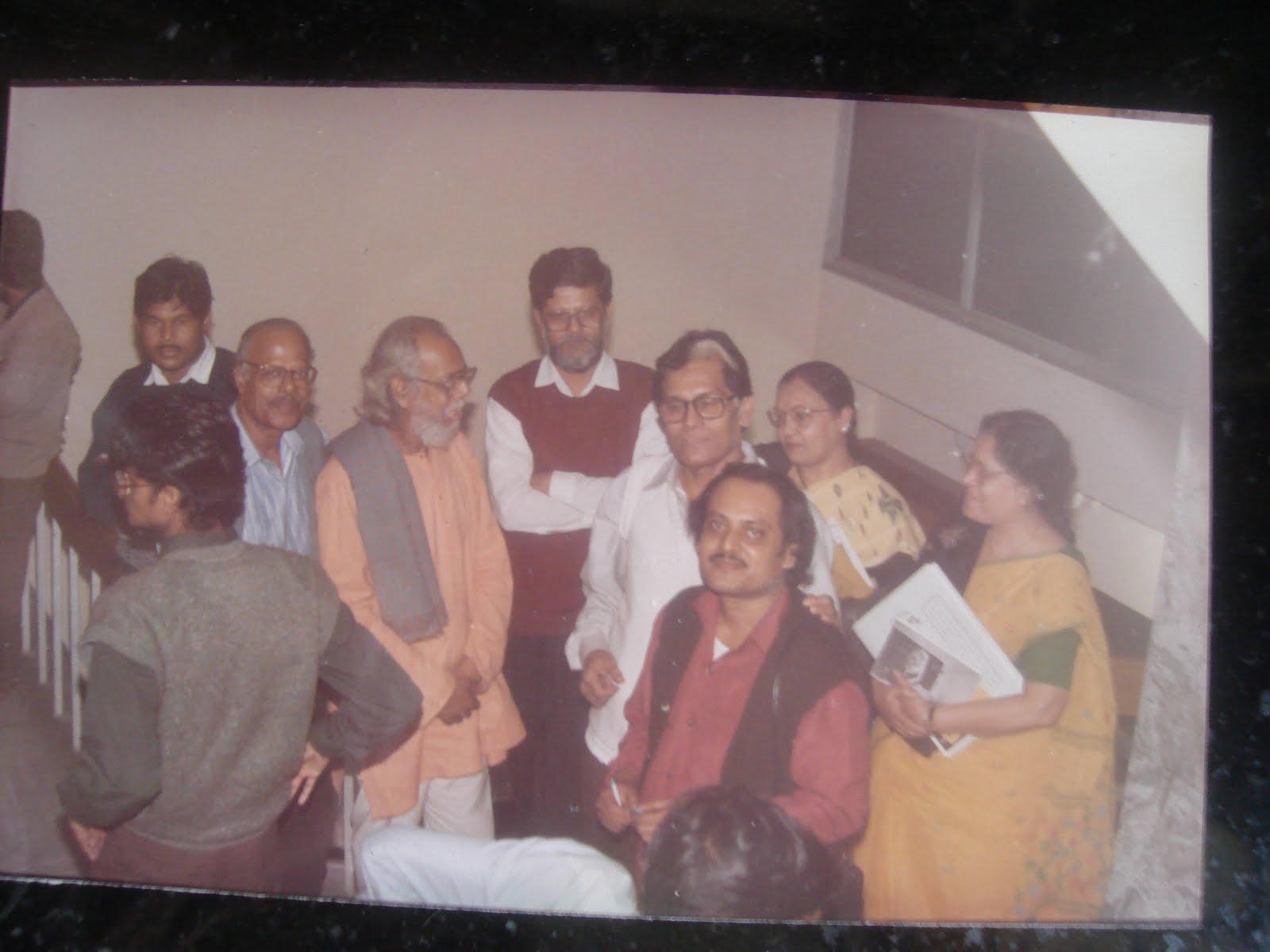 At Bangla Academy with Samir, Malay and Nasser