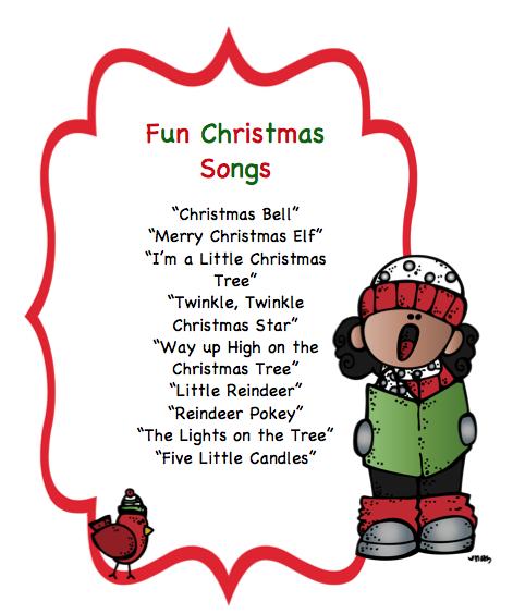 Fun Christmas Songs & Puppet Sticks ~ Preschool Printables