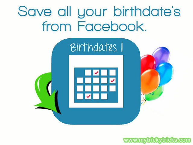 birthdates from facebook, how to get birthdates, facebook birthdates