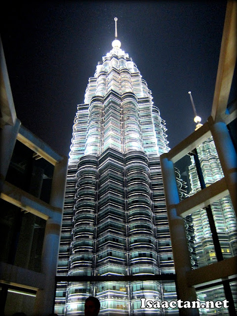 KLCC view from where I was seated at Marini's On 57