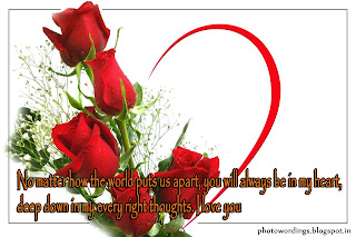 Rose With Wordings