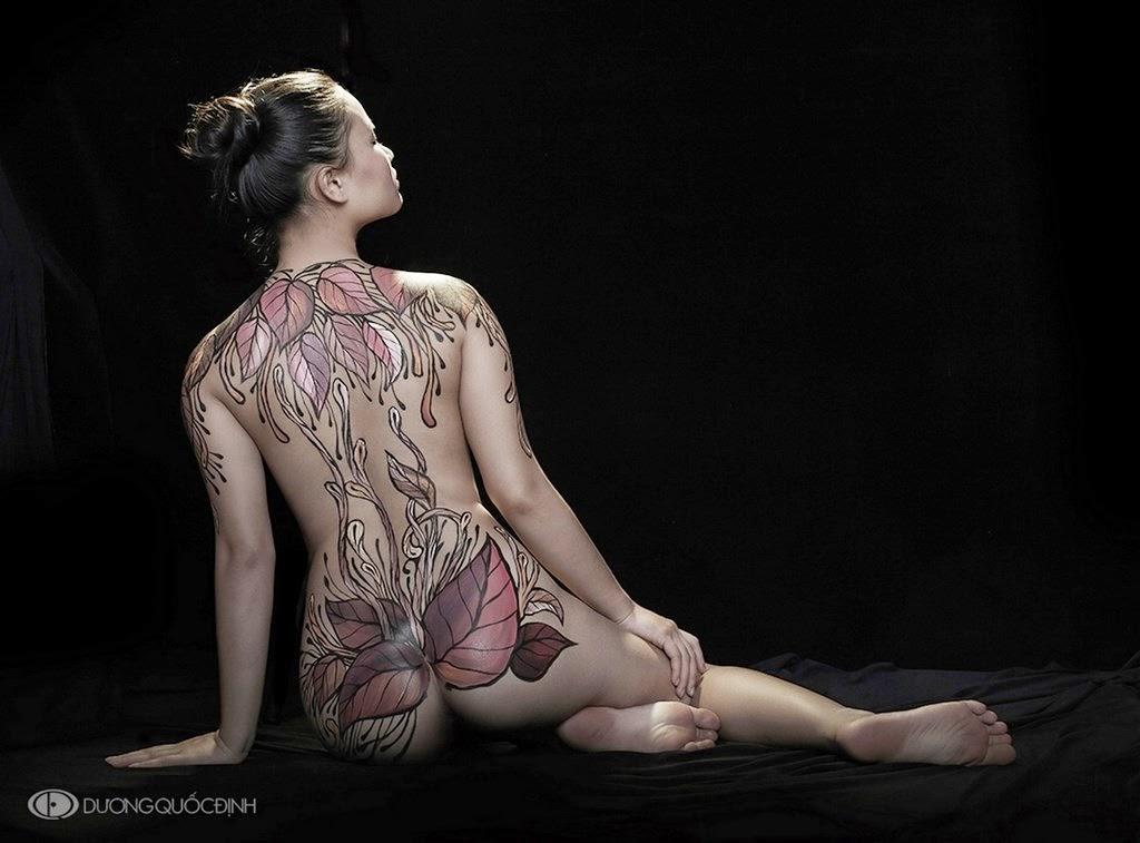 Mujeres Con El Cuerpo Pintado Desnudas Art Body Duong Quoc Dinh