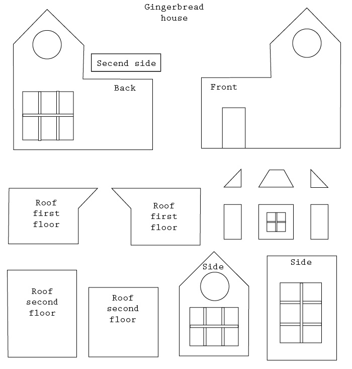 Dashing image for gingerbread house printable template