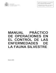 MANUAL PRÁCTICO DE OPERACIONES EN EL CONTROL DE LAS ENFERMEDADES DE LA FAUNA SILVESTRE