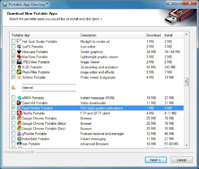 برنامج مجاني يوفر لك جميع البرامج المحمولة لتشغيلها علي اي جهاز PortableApps.com 12.1