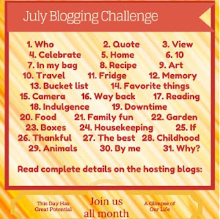 #bloggingthroughJuly #summerchallenge