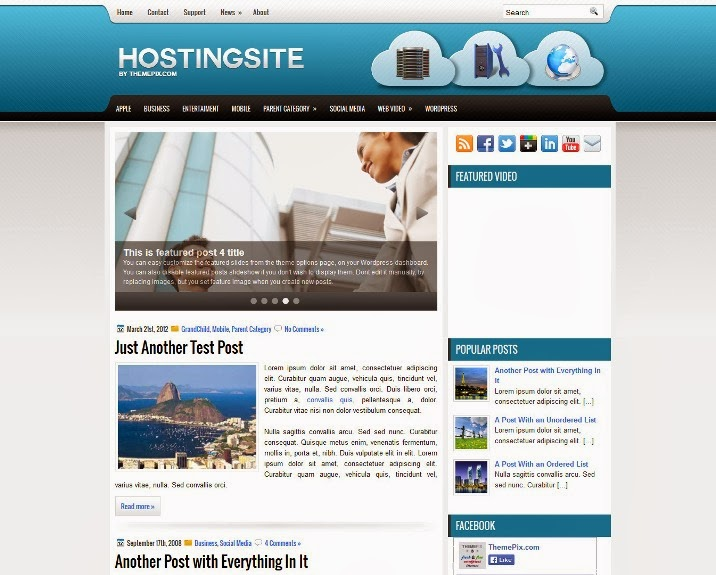 HostingSite Free WordPress Theme