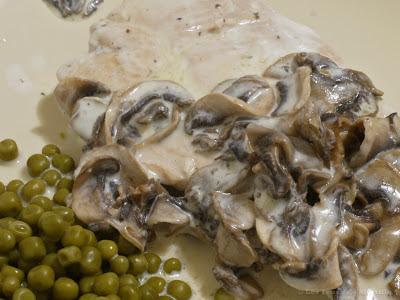 Escalopes de veau à la crème et aux champignons (voir la recette)
