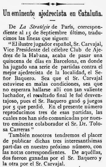 Recorte de El Pablo Morphy sobre el match de ajedrez Baquero - Martínez de Carvajal (1)