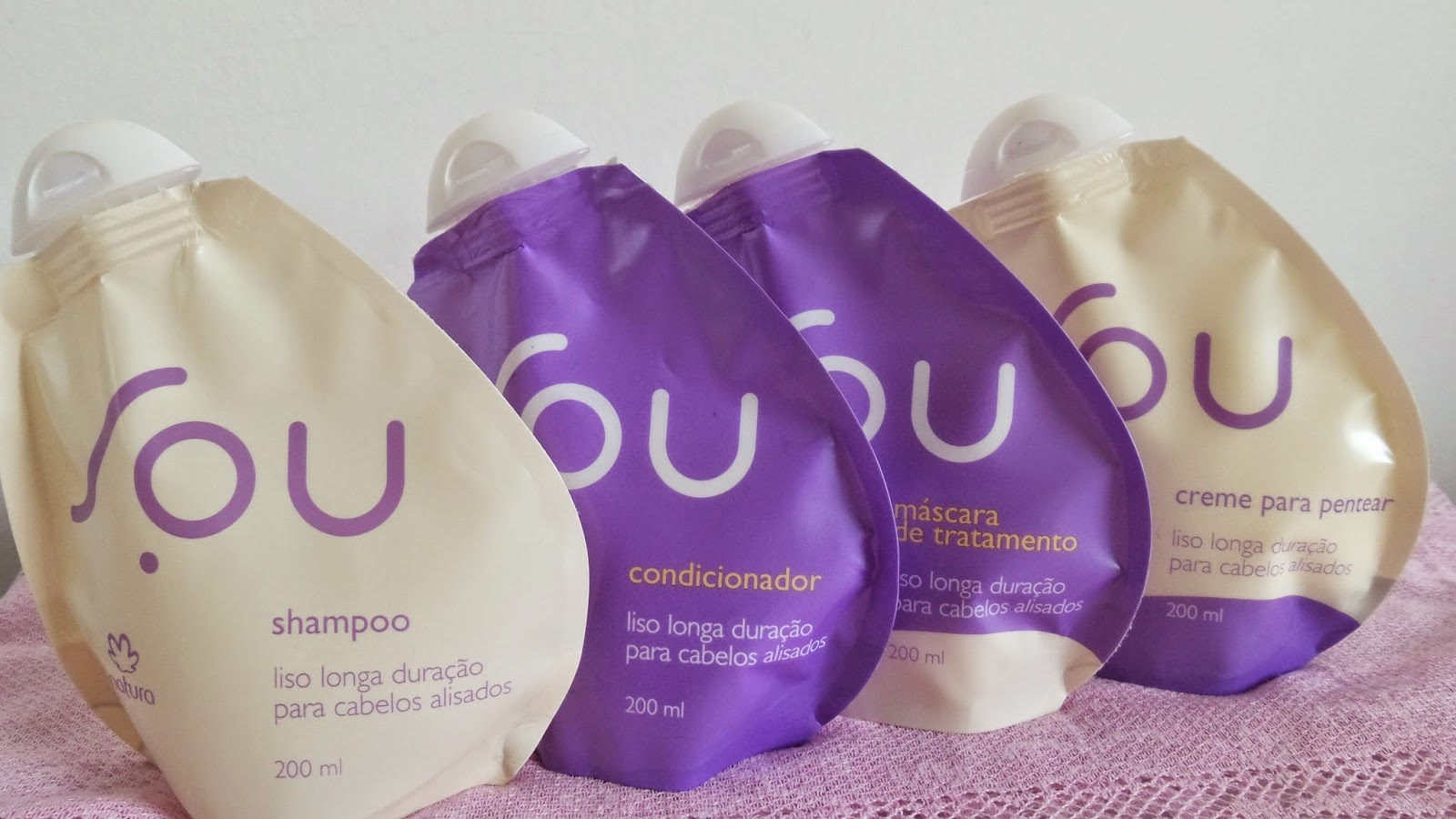 Natura SOU Liso Longa duração  shampoo, condicionador, mascara de tratamento e creme de pentear