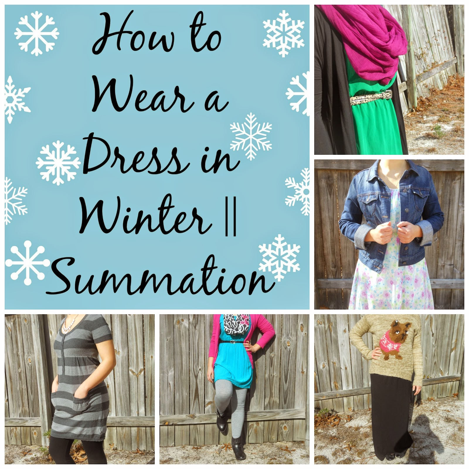 How to Wear a Dress in Winter || Summation. Ways to wear your summer dresses in winter...