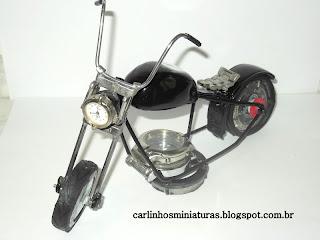 Moto Bobber Miniatura- Carlinhos Miniaturas