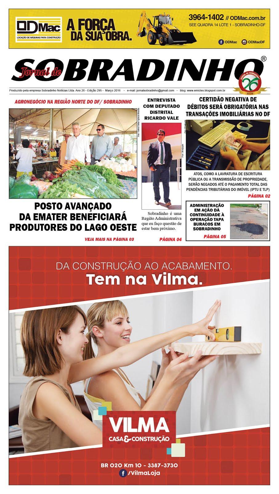 JORNAL VIRTUAL - MARÇO de 2016 - ED 295 - 2ª quinzena
