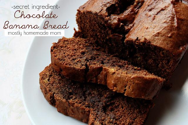 Secret Ingredient Chocolate Banana Bread | Mostly Homemade Mom