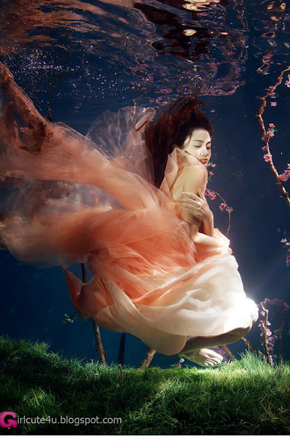 5 Xi Wang natural underwater Peach Grove-Very cute asian girl - girlcute4u.blogspot.com