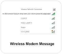 Wireless Router Message