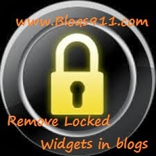 How to Remove or Delete Locked Widgets on Blogs
