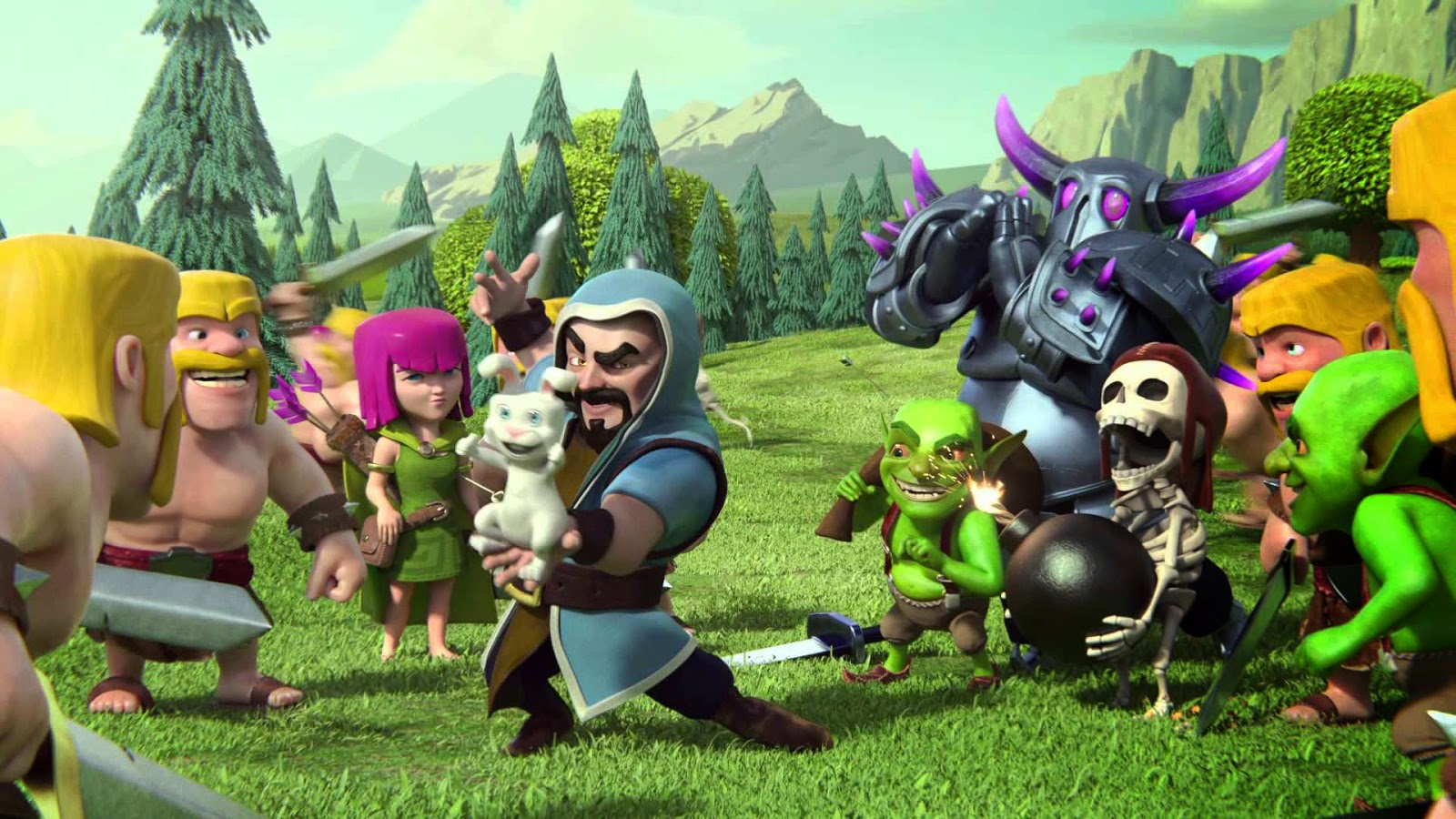 Funny Clash of Clans HD Wallpaper