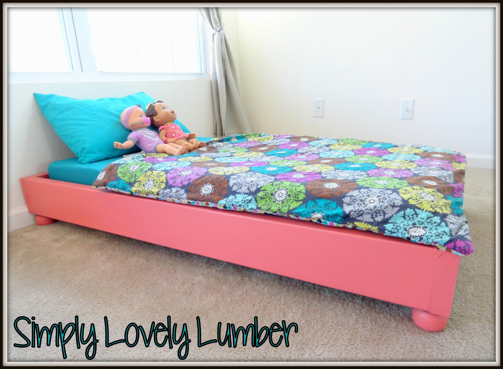 Simply Lovely Lumber: Quick and Easy Toddler Bed