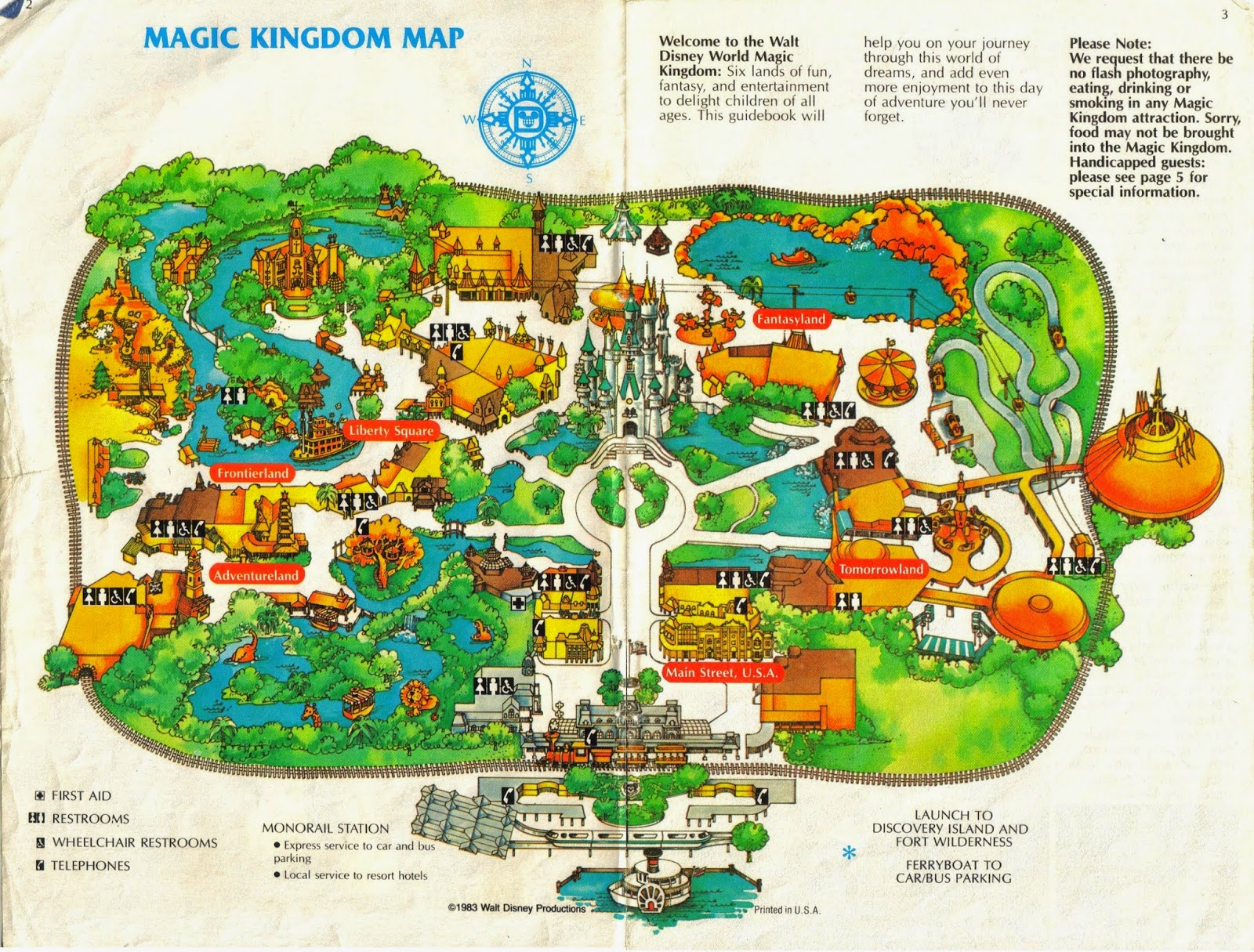 Wonderful Below: A 1983 Brochure For Walt Disney Worldu0027s Magic Kingdom, Disneyu0027s  First Theme Park In Orlando, Opened On 1 October 1971:
