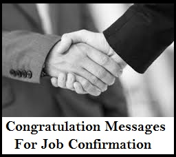 job confirmation congratulation