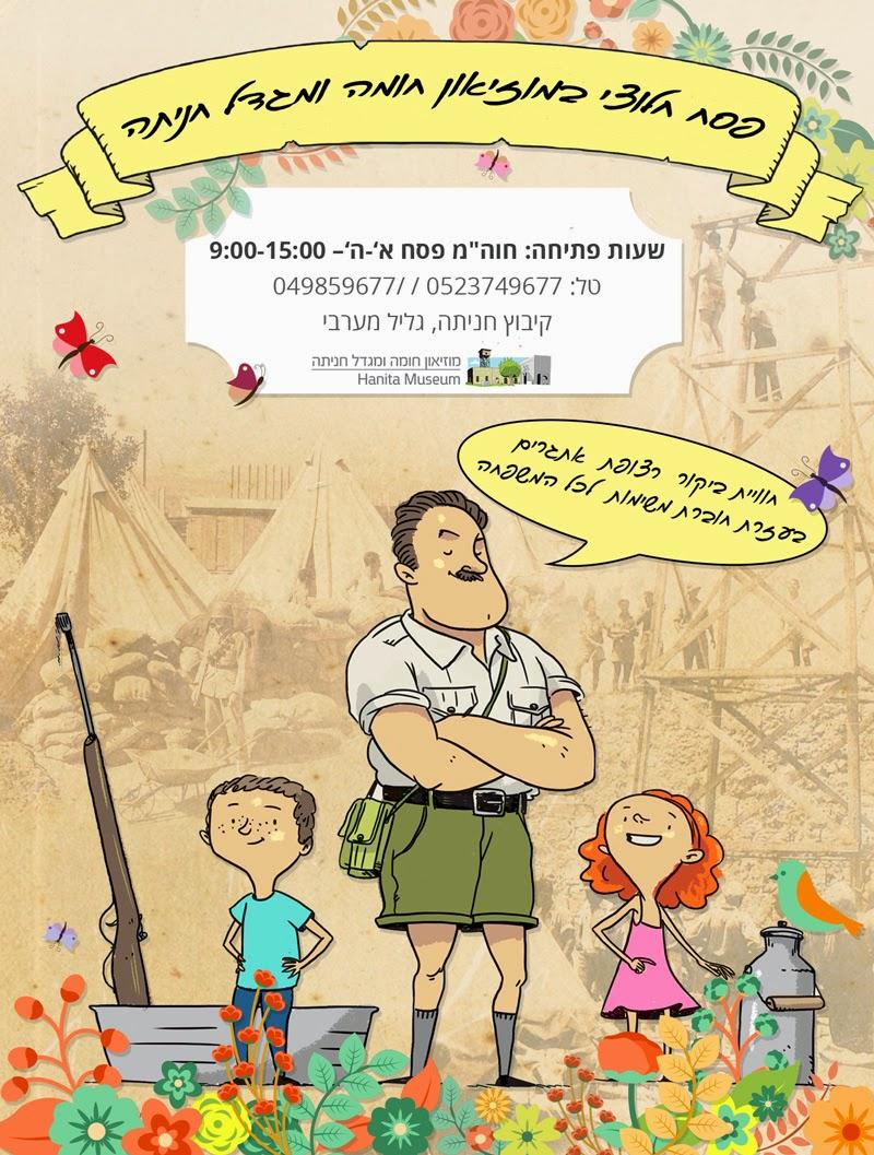 פסח, פעילות לילדים, הדרכות, מוזיאון, חומה ומגדל, חניתה, קיבוץ