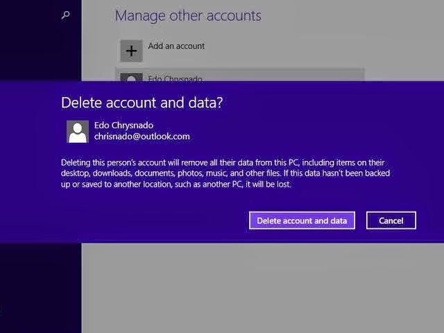 Cara Menghapus User di Windows 8.1 Melalui PC Setting