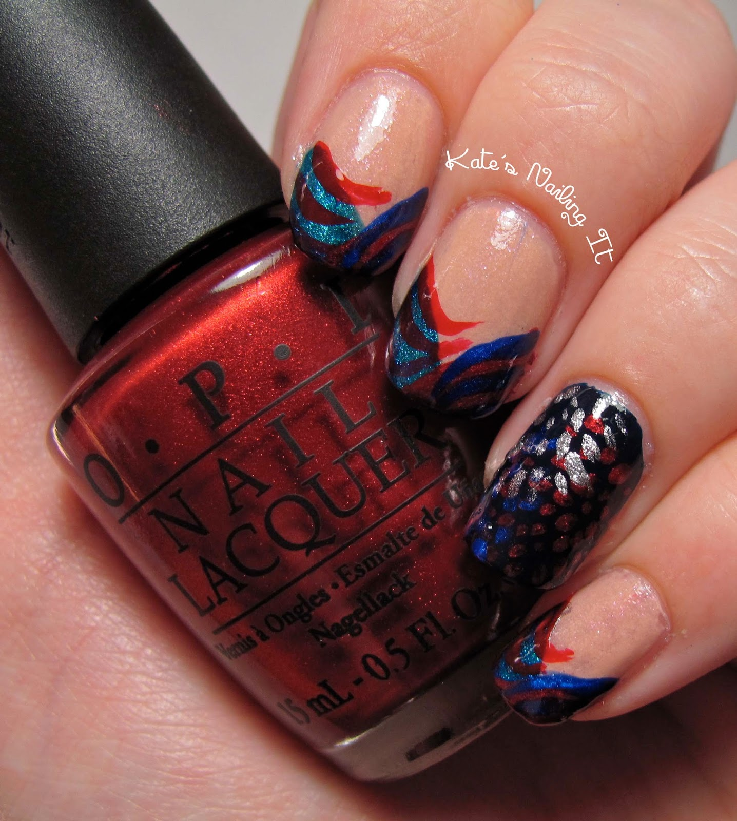 Kate\'s Nailing It: 4th of July nail art - then, now, and then!