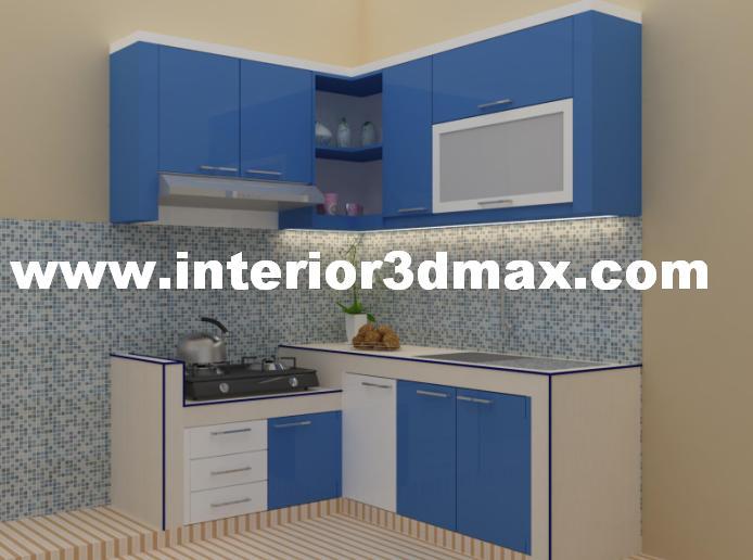 Jasa Desain Ruko Minimalis Modern Job Desain Kitchen Set Warna Biru