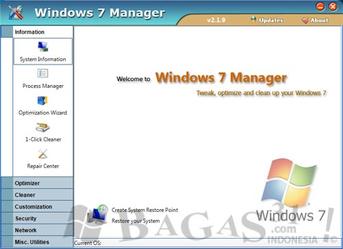 Yamicsoft Windows 7 Manager 2.1.9 + Keygen 2
