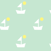 free green pattern paper with ships