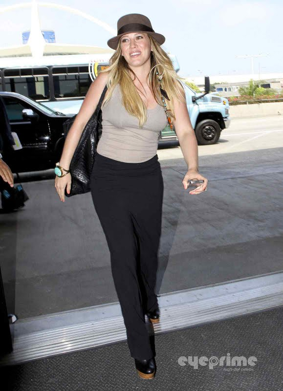Hilary Duff  at LAX Airport in Los Angeles