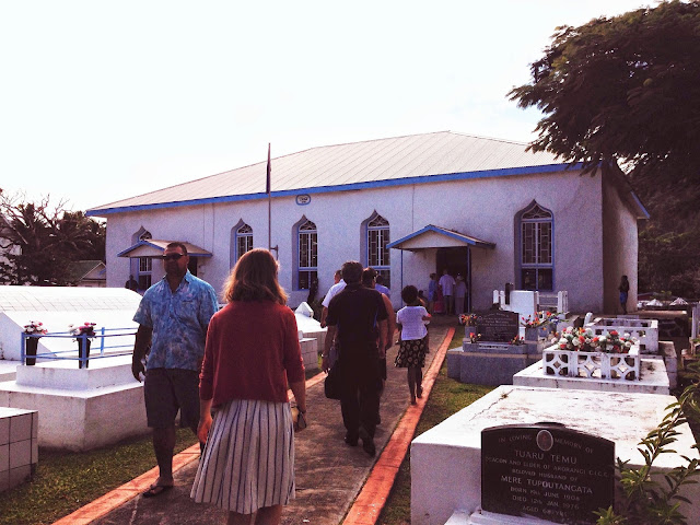 going to church on Rarotonga