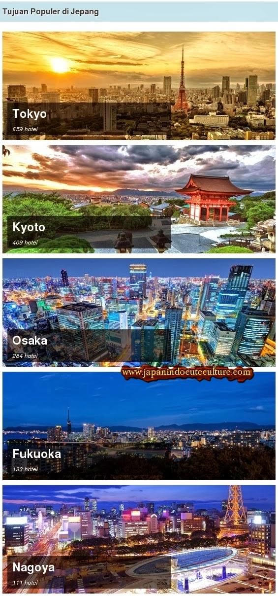 List Hotel yang ada di kota-kota populer maupun kota terpencil di Jepang